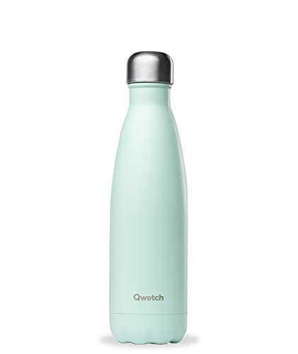 Qwetch QD3102 Edelstahl Thermosflasche / Thermoskanne 300 ml + 1 Marker in rot