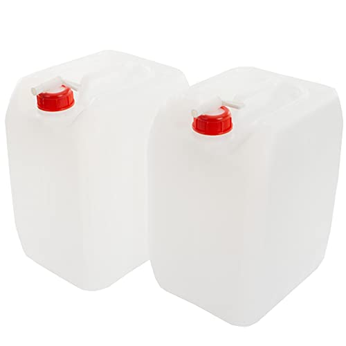 Anaterra Wasserkanister 2X 10L, Trinkwasserkanister, Wasser Kanister mit Deckel und Hahn...