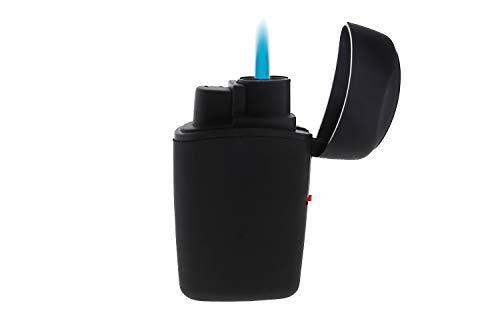 SweedZ Sturmfeuerzeuge Jet Flame mit griffiger Gummi-Umhüllung Schwarz Set 3 Stück