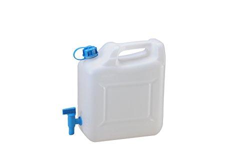 hünersdorff 817500 Wasserkanister ECO mit festmontiertem Ablasshahn / Wasserauslauf, 12 L...