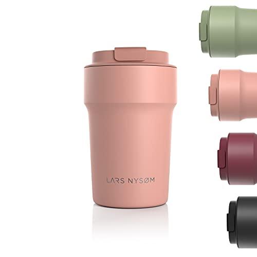 LARS NYSØM Thermo Kaffeebecher-to-go 380ml | BPA-freier Travel Mug 0.38 Liter mit...