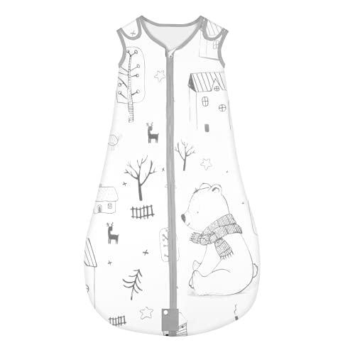 Yoofoss Schlafsack 100% Baumwolle Baby Schlafsack 80x45cm Wald-Muster Babyschlafsack...