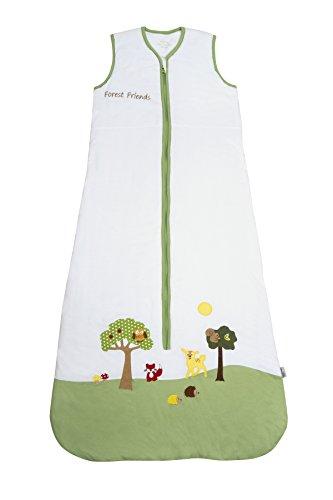 Schlummersack Kinderschlafsack Sommer ungefüttert 0.5 Tog 130cm/3-6 Jahre - Waldtiere