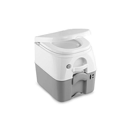 Dometic Portable 976 Camping-Toilette mit 360° Druckspülung I Abwassertank 18.9 Liter I...