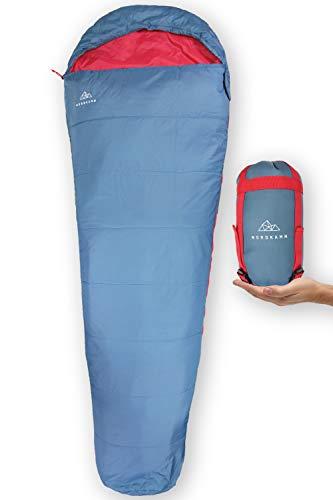NORDKAMM ultraleichter Sommer-Schlafsack, leicht dünn kleines Pack-Maß Reise
