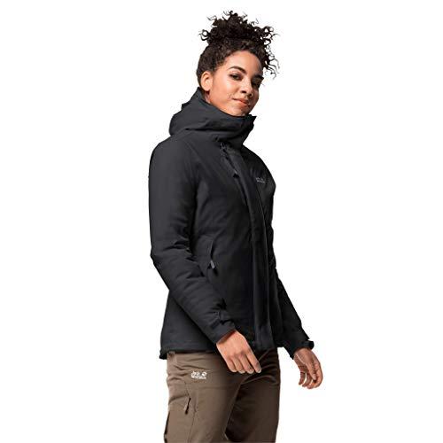 Jack Wolfskin Damen Troposphere Jacket W Wetterschutzjacke, black, M
