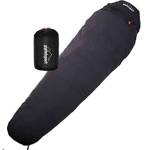 gipfelsport Mumienschlafsack - Outdoor Schlafsack für Erwachsene und Kinder | Mini Sleeping Bag für Winter,...