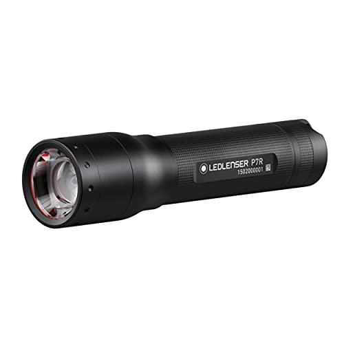 Ledlenser P7R LED Taschenlampe, fokussierbar, wiederaufladbar, mit Akku, 1000 Lumen, 210...