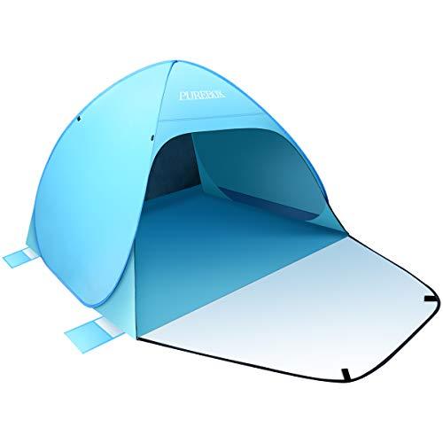 PUREBOX Strandmuschel Extra Groß Strandzelt Beach Zelt, Pop Up Sonnenschutz und...