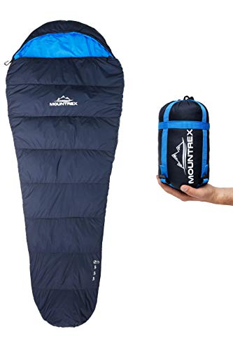 MOUNTREX® Schlafsack - Kleines Packmaß & Ultraleicht (750g) - Outdoor Sommer Schlafsack,...