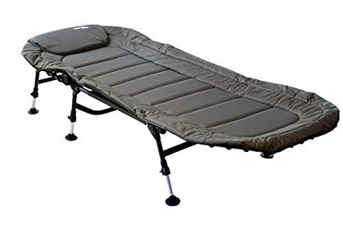 Mostal 6-Bein Anglerliege Karpfenliege Bedchair Campingliege Gästebett