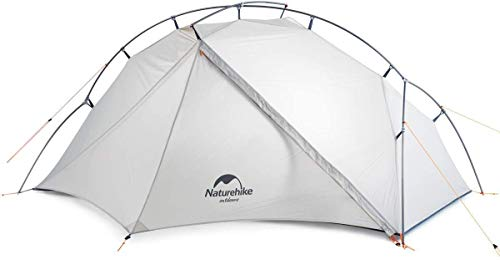 Naturehike VIK Zelt Ultraleichtzelt 3-Jahreszeiten-Rucksackzelt mit Zeltboden 15D für Campingwanderungen...