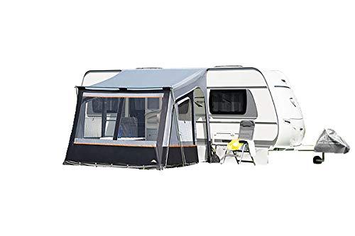 dwt vorzelt Wohnwagen Fortuna II 250 x 280cm grau Reisezelt Camping Wohnwagenvorzelt Zelt...