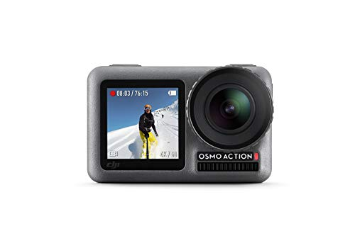 DJI Osmo Action Cam - Digitale Actionkamera mit 2 Bildschirmen 11m wasserdicht 4K...