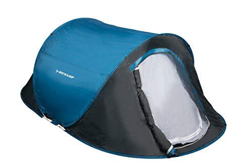 Dunlop 1 Persone Pop-up-Zelte, Kuppelzeltet Camping Outdoor Zelt, blau/grau, 220x120x90