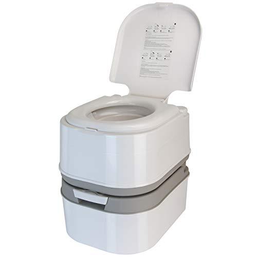 BB Sport Mobile Campingtoilette 24l mit Kolbenpumpe und Toilettenpapierfach tragbares...