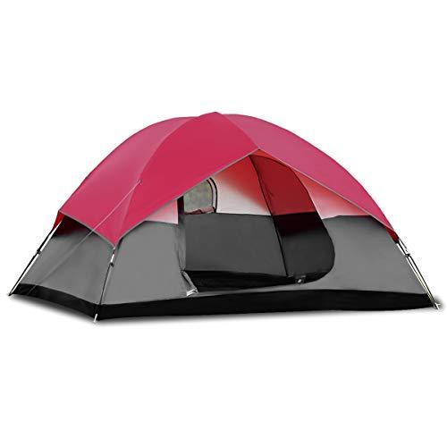 COSTWAY Campingzelt 5-6 Personen Familienzelt Kuppelzelt für Wandern, Camping im Freien,...