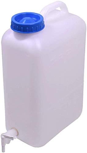 Ackrutat Wasserkanister mit Hahn Auslaufhahn 19 Liter Weithalskanister DIN 96...
