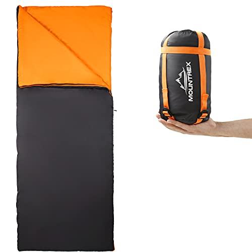 MOUNTREX® Schlafsack - Kleines Packmaß & Ultraleicht (730g) Sommer Deckenschlafsack -...