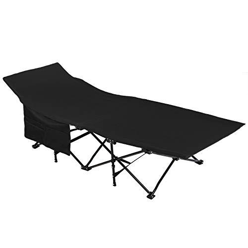 ALPIDEX Feldbett Campingbett Klappbar 190 x 67 x 40 cm Belastbar bis 120 kg Seitentasche...