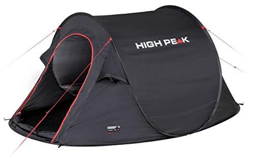 High Peak Wurfzelt Vision 3, Pop Up Zelt für 3 Personen, Festivalzelt freistehend, super...