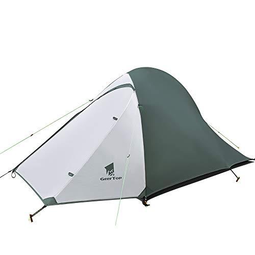 GEERTOP Ultraleichte Camping Zelt 2 Personen Wasserdicht 3-4 Saison Doppelwandig Zelt für...