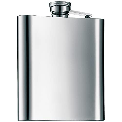 WMF Manhattan Flachmann 200 ml, 20cl, Cromargan Edelstahl mattiert, 13 x 10 cm,...