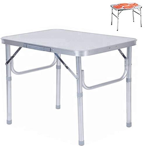 Smartweb Alu Campingtisch klappbar faltbar 75 x 55cm nur 3.2 Kg. Klapptisch Gartentisch...