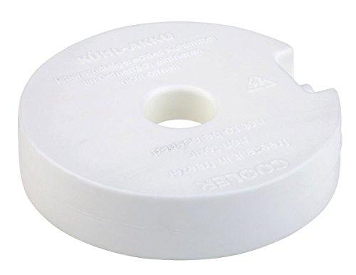 APS Kühlakku, Kühlelement, weißer, runder Kunststoffkühler, 10,5 x 10,5 cm, gefüllt mit...