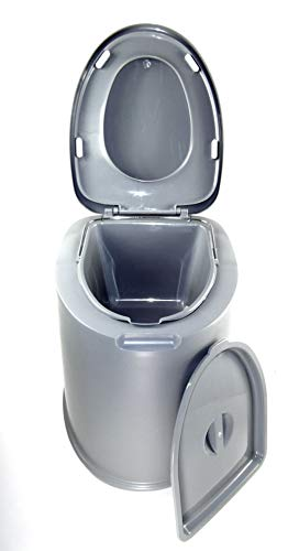 Sesua XL -Eimertoilette,Camping-Toilette,Nottoilette, chemietoilette toiletteneimer Sanitär Farbe GRAU Deluxe