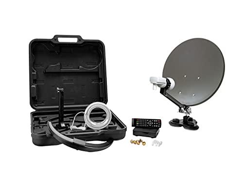 Xoro MCA 38 HD Set 38,5 cm Camping Satellitenantenne inkl. FullHD DVB-S2 Receiver, Single...