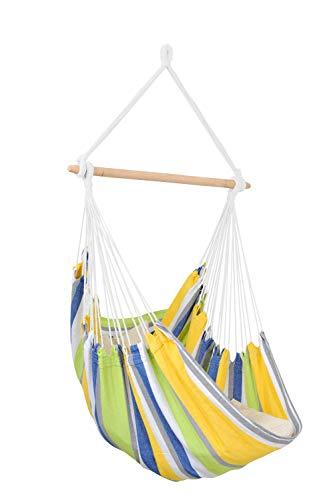 AMAZONAS Hängesessel wetterfest UV-beständig Relax Kolibri mit Querstab aus Holz 85 cm bis 120 kg...