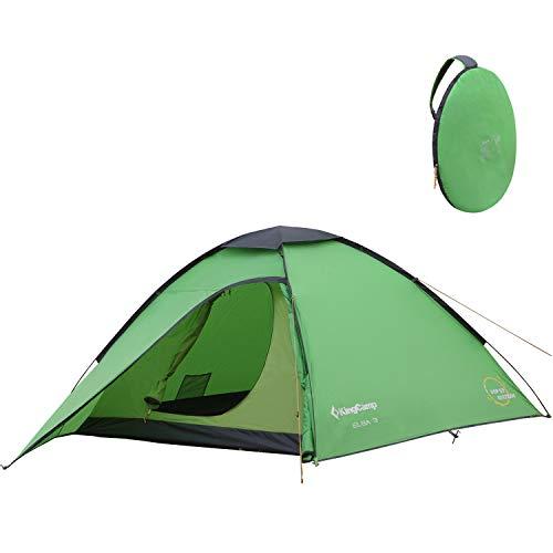 KingCamp Campingzelt Pop-up Kuppelzelt Wurfzelt mit Vorraum für 3 Personen leicht 3000mm...