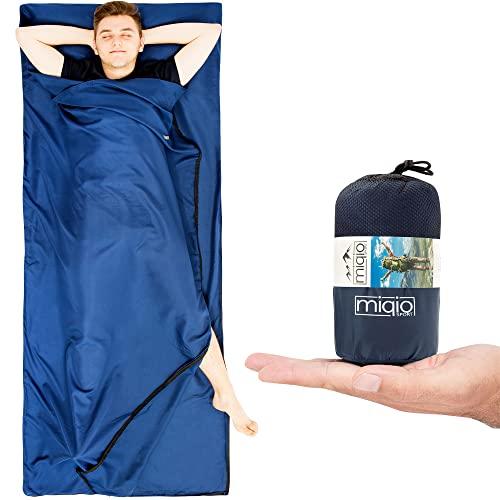 Miqio® 2in1 Hüttenschlafsack mit durchgängigem Reißverschluss (Links oder rechts):...