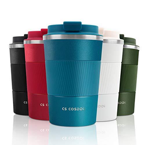 CS COSDDI Thermobecher- Isolierbecher, Edelstahl Travel Mug, 13oz/380ml Vakuum...