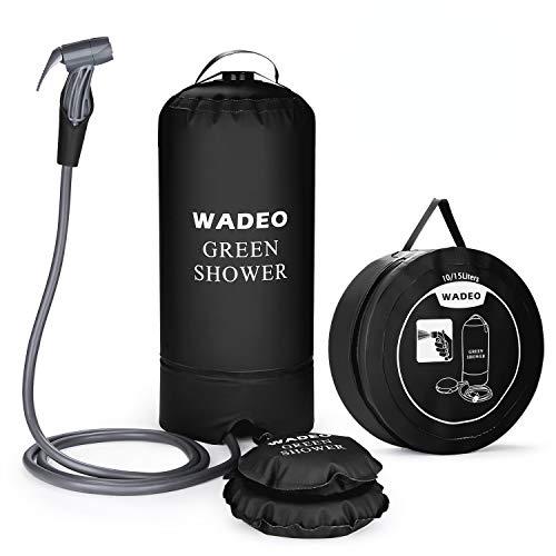 WADEO Campingdusche mit Pumpe, Druckdusche Dusche Tasche Reisedusche 15 Liter mit Duschkopf tragbare und...