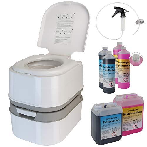 Montafox Campingtoilette 24 Liter - Optional erhältlich: Sanitärflüssigkeiten und...