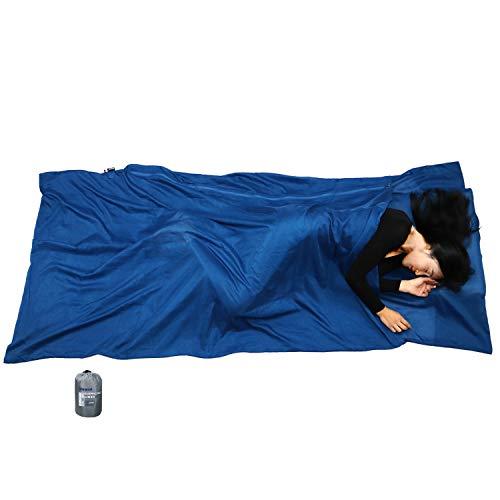 BROWINT Schlafsack Inlett aus Seide/Baumwolle, Reiseschlafsack mit Doppeltem...