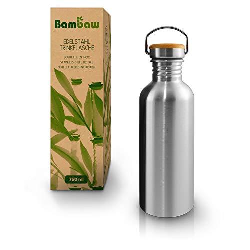 Bambaw Trinkflasche 1l Edelstahl | Langlebige Wasserflasche 1l| Wiederverwendbare öko...