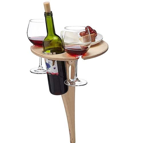 Weintisch Tragbarer Weintisch im Freien,Picknicktisch Klapptisch für den Garten, Kleiner...