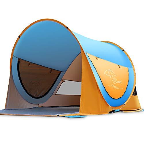 OCOOPA Strandmuschel, Großes Pop-Up-Strandzelt für 4 Personen, Anti-UV, automatisches...