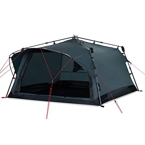 Qeedo Quick Villa 3, Campingzelt 3 Personen, Sekundenzelt - grau
