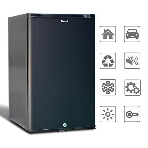 Smad Mini-Kühlschrank 12V und 220V Minibar Absorption Kühlschrank für Camping Wohnmobil...