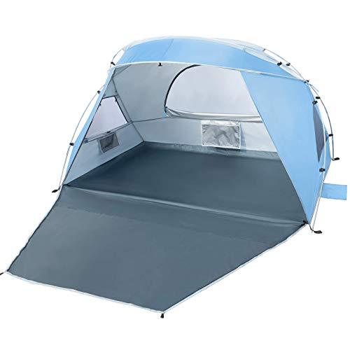 Forceatt 2 und 3 Personen strandzelt,UV Schutz 50+ Sonnenschutz Beach Zelt, einfache...