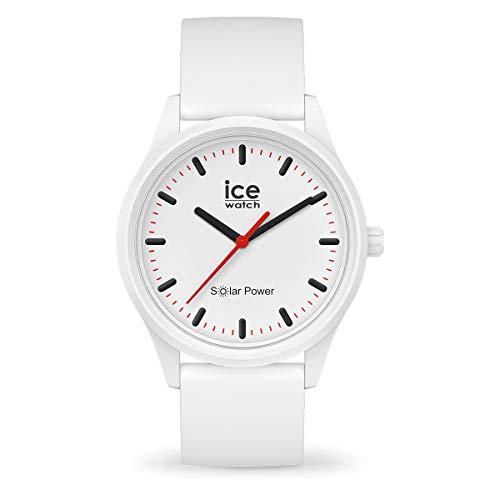 ICE-WATCH - ICE solar power Polar - Weiße Herren/Unisexuhr mit Silikonarmband - 017761...