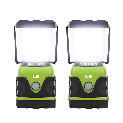 LE LED Campinglampe, Ultra Hell 1000 Lumen, 4 Leuchtmodi Dimmbar Suchscheinwerfer,...