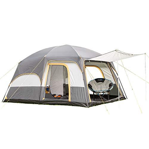 skandika Tønsberg 5 Personen Campingzelt mit großem Wohnraum, eingenähtem Zeltboden,...