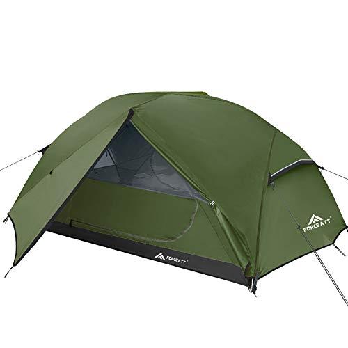 Forceatt Zelt 2-3 Personen Camping Zelt, 2 Doors Wasserdicht & Winddicht & Insektensicher...