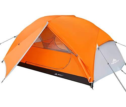 Forceatt Zelt 2 Personen Camping Zelt, 2 Doors Wasserdicht & Winddicht 3-4 Saison...