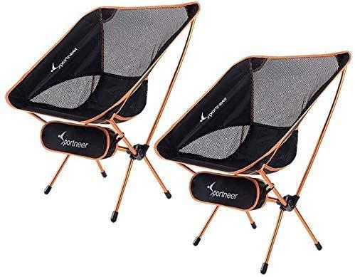 Sportneer Campingstuhl, Tragbar Leicht Faltbar Camping Stuhl bis zu 150 kg für...